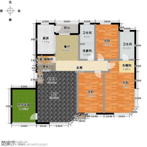 慧谷阳光3室0厅2卫1厨194.00㎡户型图