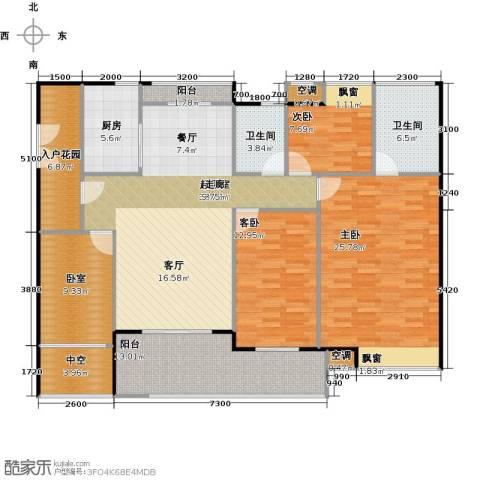 广弘天琪3室0厅2卫1厨178.00㎡户型图