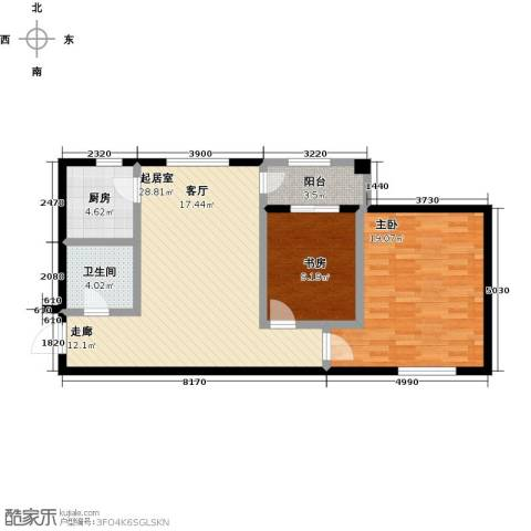 美树日记2室0厅1卫1厨100.00㎡户型图
