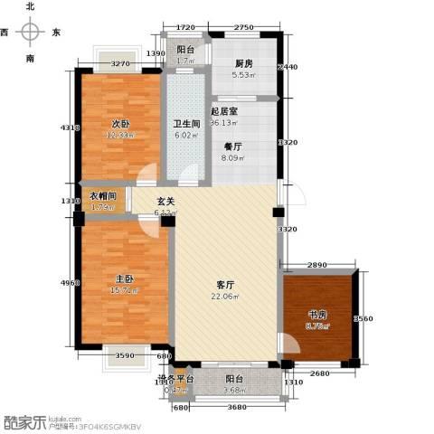 美树日记3室0厅1卫1厨134.00㎡户型图