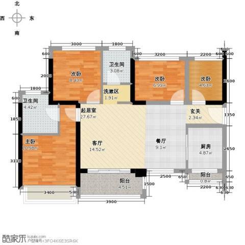 大东城4室0厅2卫1厨87.00㎡户型图