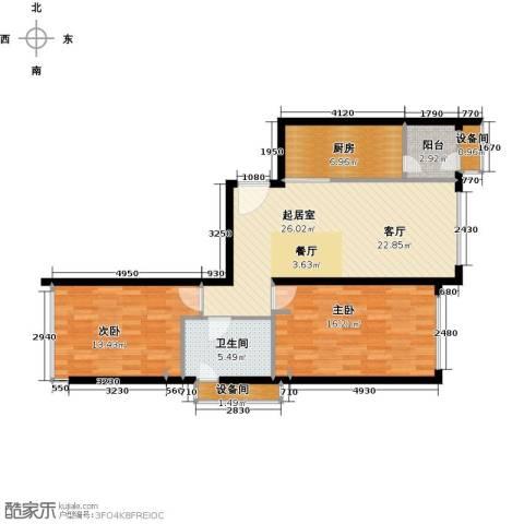 大西洋新城2室0厅1卫1厨105.00㎡户型图
