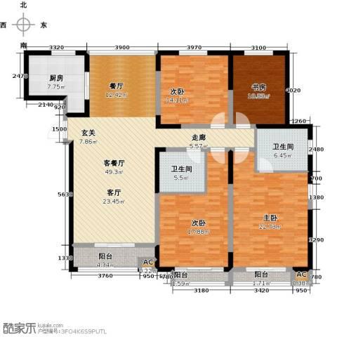 证大多伦多花园4室1厅2卫1厨204.00㎡户型图