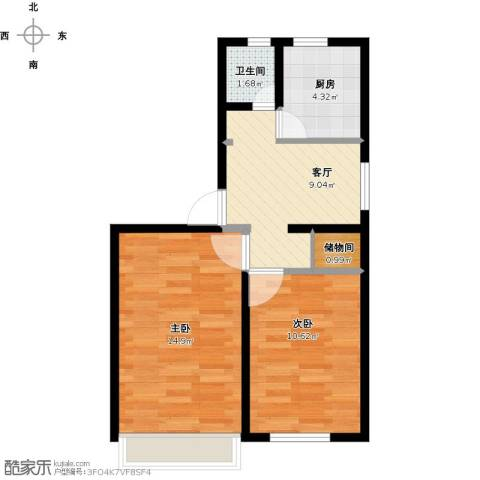 管庄西里2室1厅1卫1厨59.00㎡户型图
