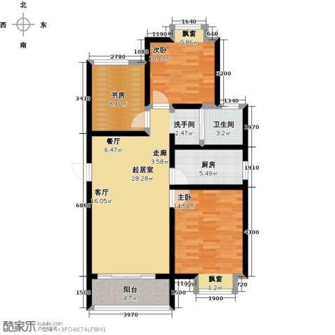 阳光北京城3室0厅1卫1厨108.00㎡户型图