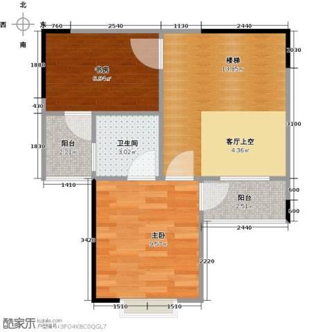 帝豪巴南印象二期2室0厅1卫0厨41.65㎡户型图