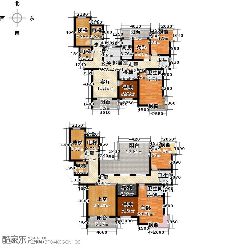 鑫利8号256.87㎡六房两厅两四卫户型