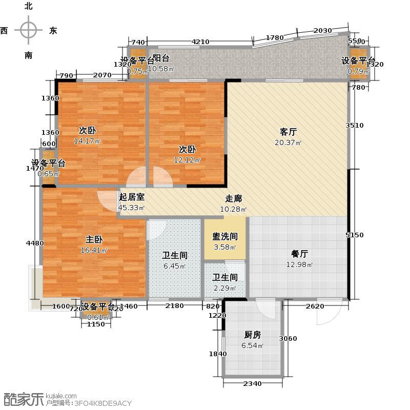 华江.乐天花亭125.62㎡G户型