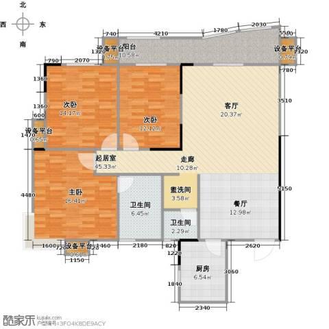 华江.乐天花亭3室0厅2卫1厨126.00㎡户型图