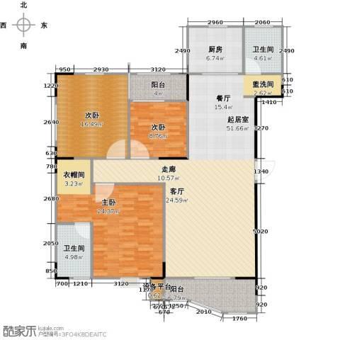 华江.乐天花亭3室0厅2卫1厨138.00㎡户型图