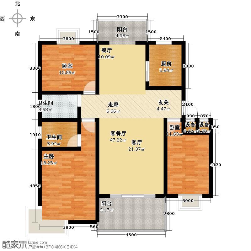 汇福名苑户型1室1厅2卫1厨