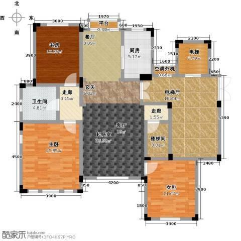 阳光地中海3室0厅1卫1厨128.00㎡户型图