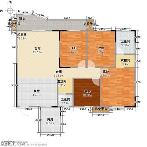 华江.乐天花亭4室0厅2卫1厨149.00㎡户型图