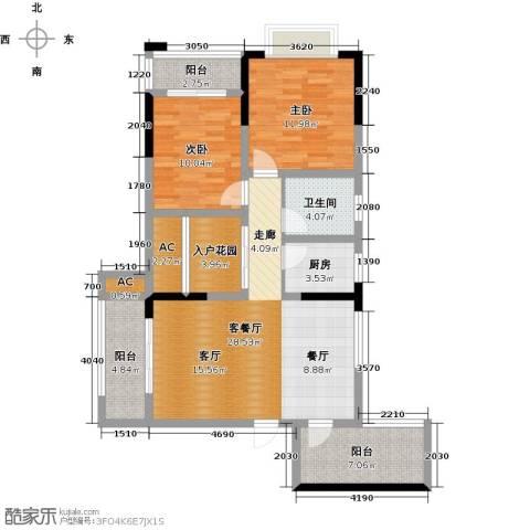 清溪商会大厦2室1厅1卫1厨117.00㎡户型图