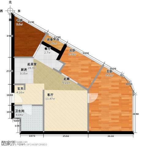 金隅可乐+3室0厅1卫0厨81.00㎡户型图