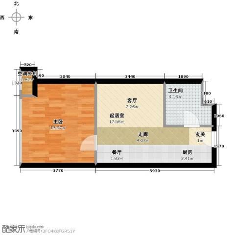 金隅可乐+1室0厅1卫0厨51.00㎡户型图