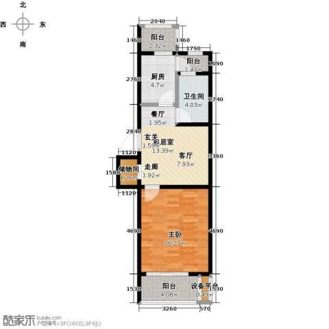 假日普罗旺斯一期1室0厅1卫1厨70.00㎡户型图