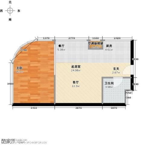 金隅可乐+1室0厅1卫0厨61.00㎡户型图