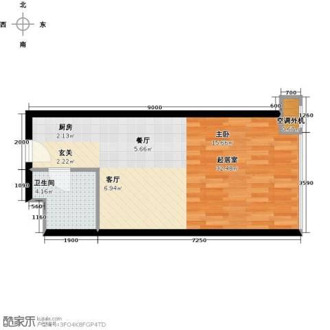 金隅可乐+1卫0厨51.00㎡户型图