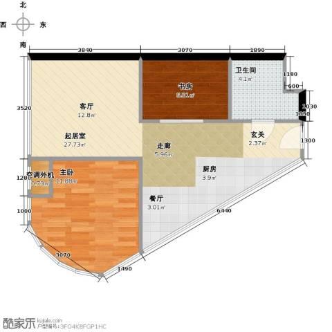 金隅可乐+2室0厅1卫0厨69.00㎡户型图