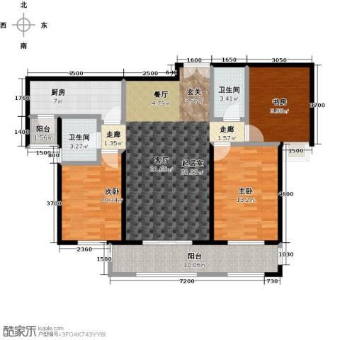 唐山万达广场3室0厅2卫1厨130.00㎡户型图