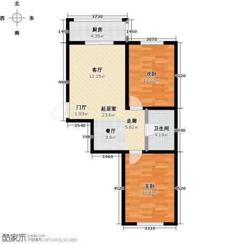 假日普罗旺斯一期2室0厅1卫1厨80.00㎡户型图