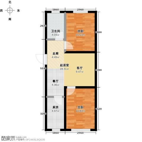 假日普罗旺斯一期2室0厅1卫1厨69.00㎡户型图