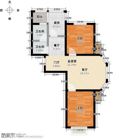 假日普罗旺斯一期2室0厅2卫1厨74.00㎡户型图