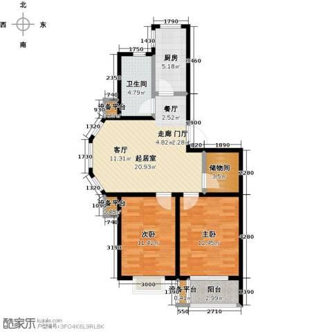 假日普罗旺斯一期2室0厅1卫1厨90.00㎡户型图