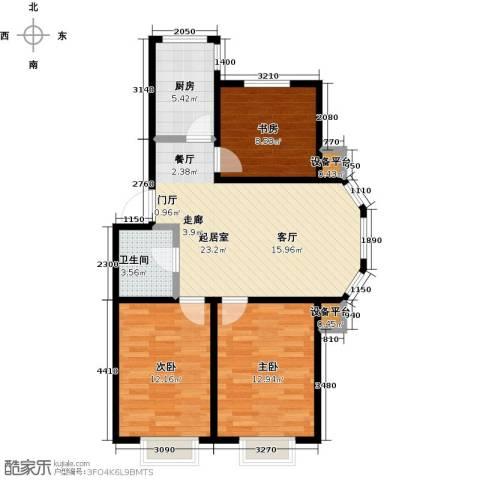 假日普罗旺斯一期3室0厅1卫1厨94.00㎡户型图