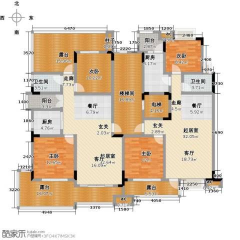 君山公馆4室0厅2卫2厨278.00㎡户型图