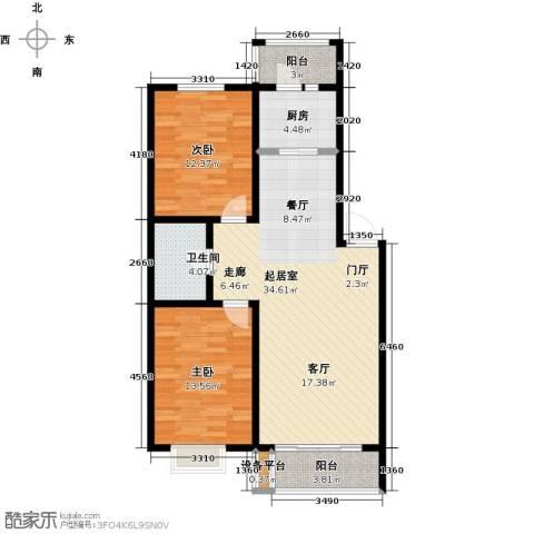 假日普罗旺斯一期2室0厅1卫1厨108.00㎡户型图