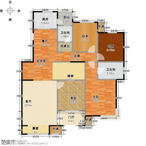 孔雀城大湖3室0厅2卫1厨161.00㎡户型图