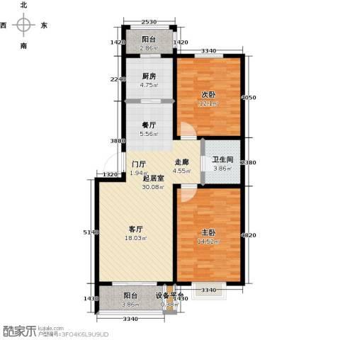假日普罗旺斯一期2室0厅1卫1厨102.00㎡户型图