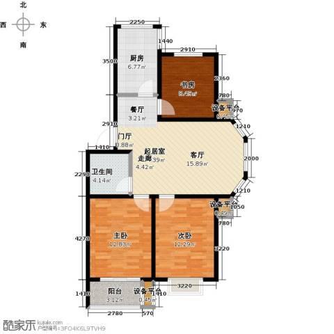 假日普罗旺斯一期3室0厅1卫1厨104.00㎡户型图