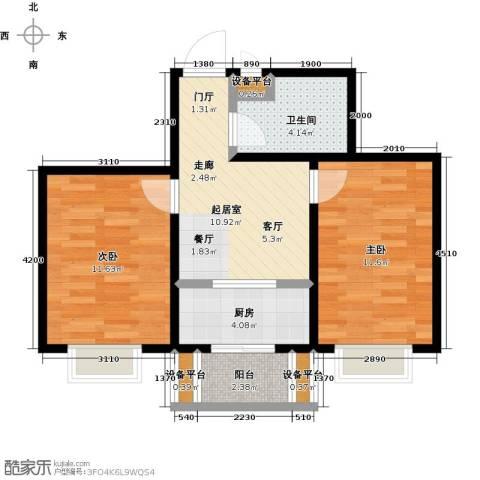 假日普罗旺斯一期2室0厅1卫1厨67.00㎡户型图