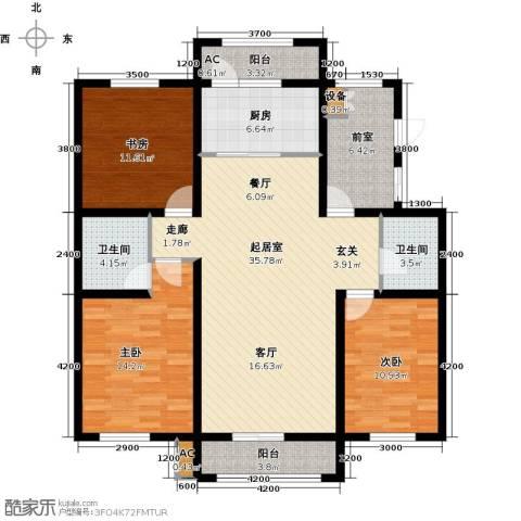 诺睿德国际商务广场3室0厅2卫1厨141.00㎡户型图