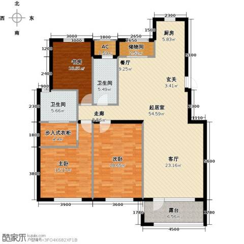 缇香漫城3室0厅2卫0厨159.00㎡户型图