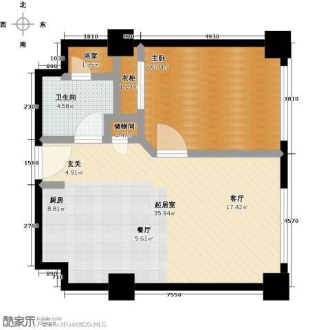 乐成豪丽公寓1室0厅1卫0厨70.00㎡户型图
