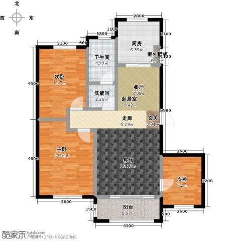 知语山3室0厅1卫1厨115.00㎡户型图
