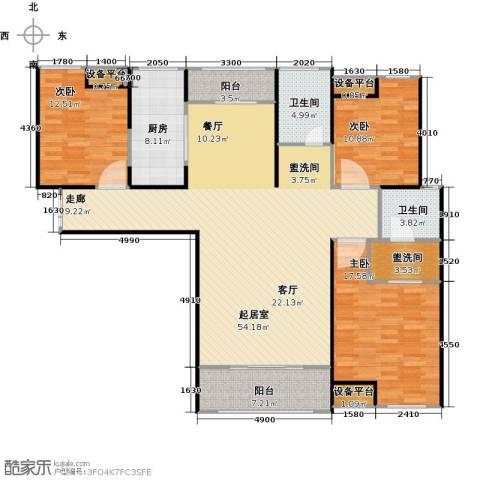 财信圣堤亚纳3室0厅2卫1厨138.00㎡户型图