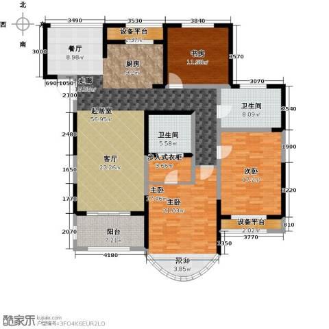 万宇御湖郡3室0厅2卫0厨155.00㎡户型图