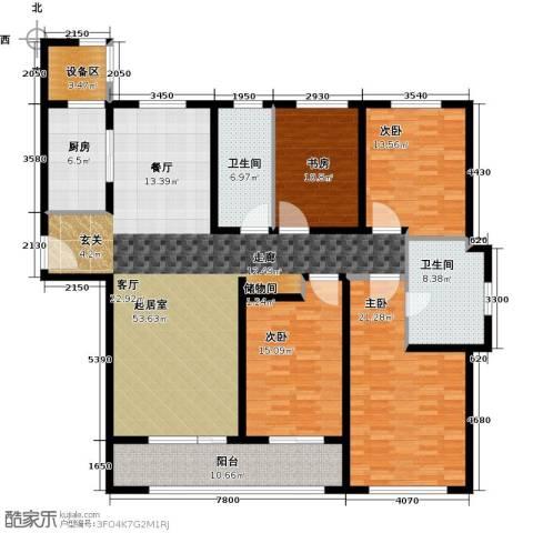 万科御玲珑4室0厅2卫1厨170.00㎡户型图