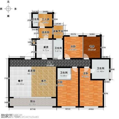万科御玲珑4室0厅4卫1厨225.00㎡户型图