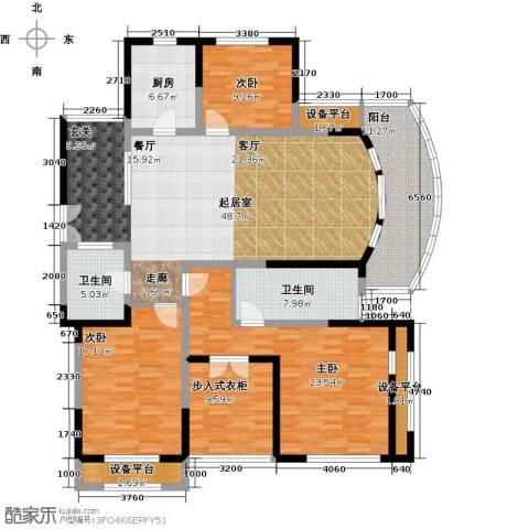 万宇御湖郡3室0厅2卫1厨161.00㎡户型图