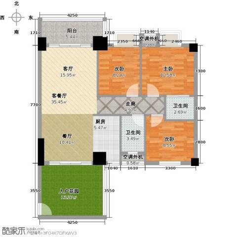 凯旋御景豪庭3室1厅2卫0厨108.00㎡户型图