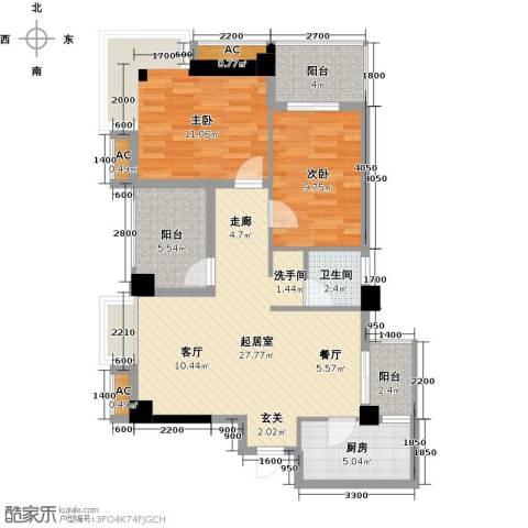 熙城2室0厅1卫1厨102.00㎡户型图
