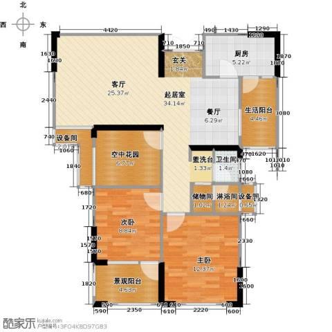 联诚国际城2室0厅1卫1厨93.00㎡户型图