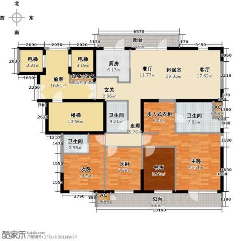 金地长青湾4室0厅3卫1厨184.81㎡户型图