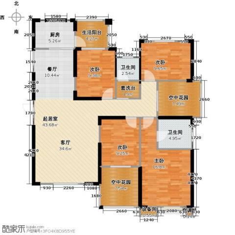 联诚国际城4室0厅2卫1厨159.00㎡户型图